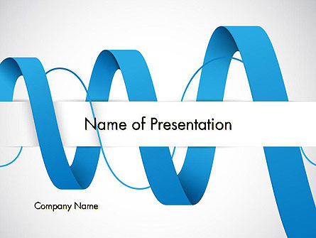 Abstract Tape Swirl PowerPoint Template