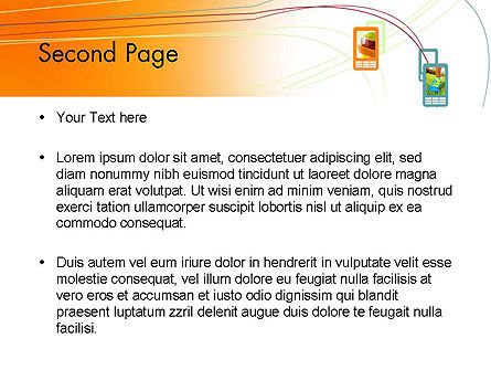 Smartphone Theme PowerPoint Template, Slide 2, 12055, Technology and Science — PoweredTemplate.com