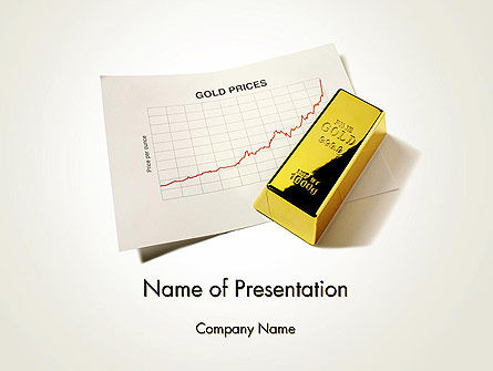 Financial/Accounting: Gold Price PowerPoint Template #12056