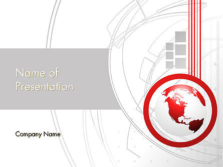 Technological Advancement PowerPoint Template, 12058, Global — PoweredTemplate.com
