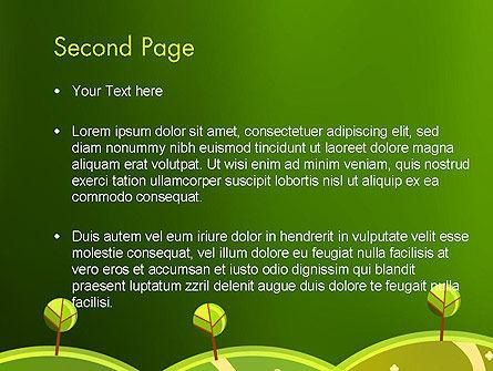 Green Meadows PowerPoint Template, Slide 2, 12061, Nature & Environment — PoweredTemplate.com