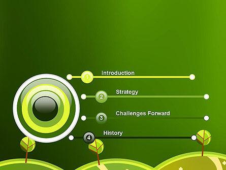 Green Meadows PowerPoint Template, Slide 3, 12061, Nature & Environment — PoweredTemplate.com
