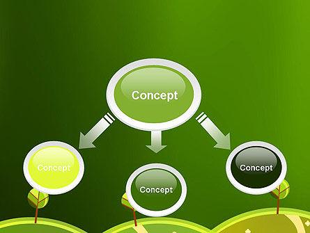 Green Meadows PowerPoint Template, Slide 4, 12061, Nature & Environment — PoweredTemplate.com