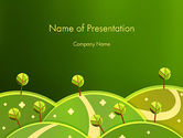 Nature & Environment: Green Meadows PowerPoint Template #12061