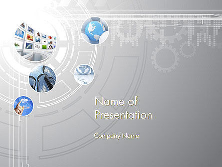 Integrated System PowerPoint Template, 12062, Business — PoweredTemplate.com