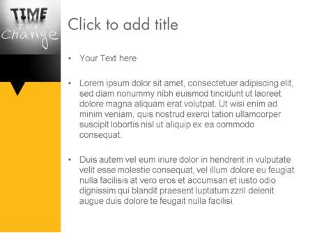 Time for a Change PowerPoint Template, Slide 3, 12063, Consulting — PoweredTemplate.com