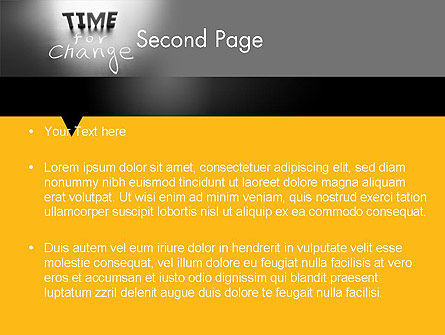 Time for a Change PowerPoint Template Slide 2