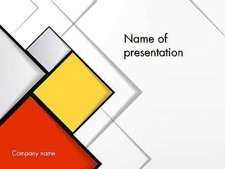 Colored Squares PowerPoint Template, 12067, Abstract/Textures — PoweredTemplate.com