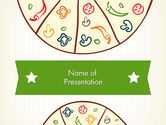 Food & Beverage: Pizza Illustration PowerPoint Template #12068