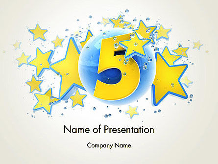 Five Years Celebration PowerPoint Template