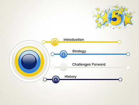 Five Years Celebration PowerPoint Template Slide 3