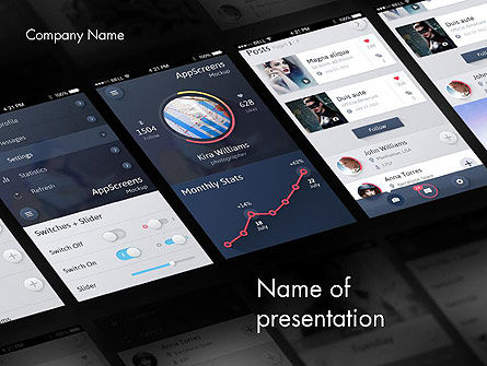 Smartphone Interface Design PowerPoint Template, 12070, Careers/Industry — PoweredTemplate.com