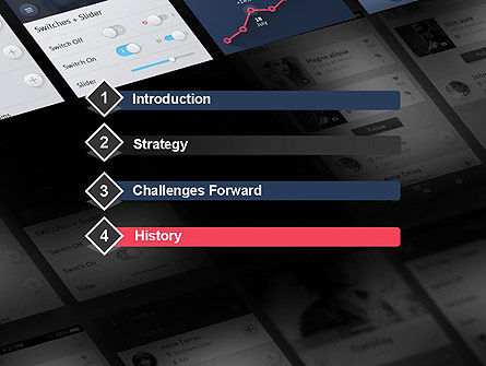 Smartphone Interface Design PowerPoint Template, Slide 3, 12070, Careers/Industry — PoweredTemplate.com