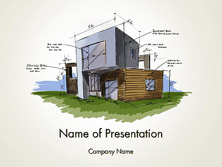 Construction: Concept Architecture PowerPoint Template #12072