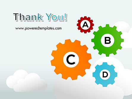 Colorful Cogs PowerPoint Template Slide 20