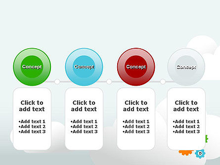 Colorful Cogs PowerPoint Template Slide 5