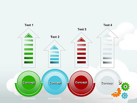 Colorful Cogs PowerPoint Template Slide 7