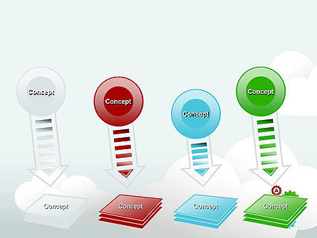 Colorful Cogs PowerPoint Template Slide 8