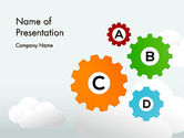 Education & Training: Colorful Cogs PowerPoint Template #12075
