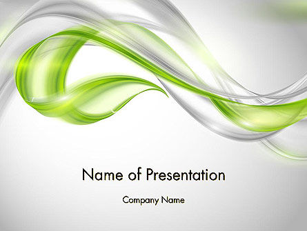 Abstract Transparent Waves PowerPoint Template, 12077, Abstract/Textures — PoweredTemplate.com