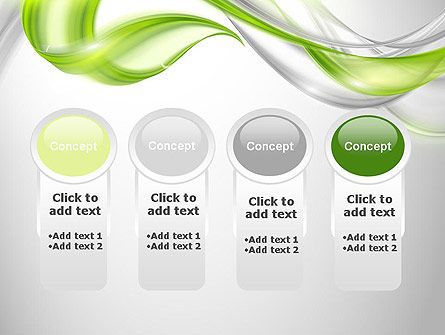 Abstract Transparent Waves PowerPoint Template Slide 5