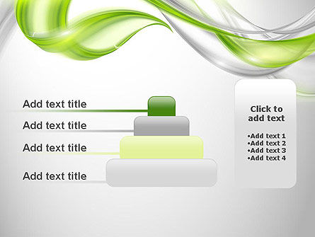 Abstract Transparent Waves PowerPoint Template Slide 8