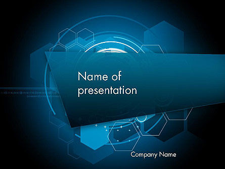 Abstract/Textures: Abstract High Tech Zeshoeken PowerPoint Template #12080