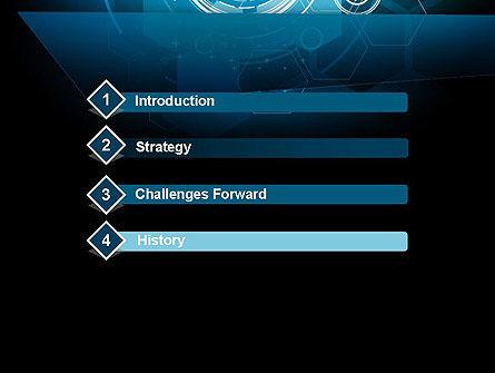abstract high tech hexagons powerpoint template, backgrounds, Modern powerpoint
