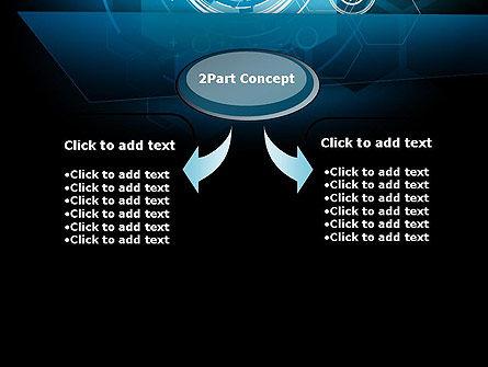 Abstract High Tech Hexagons PowerPoint Template, Slide 4, 12080, Abstract/Textures — PoweredTemplate.com