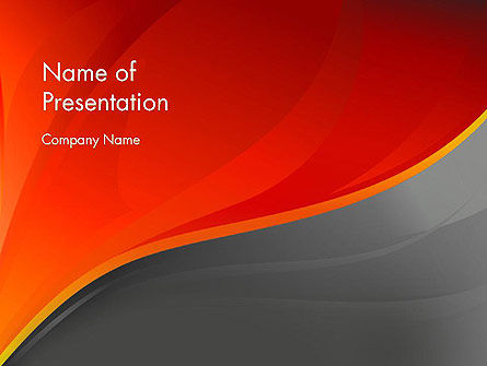 Abstract/Textures: Red and Gray PowerPoint Template #12081