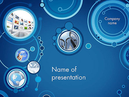 Blue Rings Business Theme PowerPoint Template