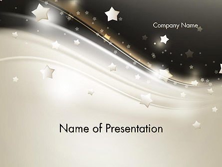 Holiday/Special Occasion: Stars on Gray Theme PowerPoint Template #12083
