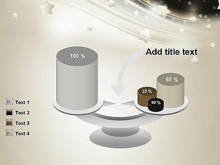 Stars on Gray Theme PowerPoint Template Slide 10