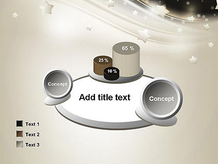 Stars on Gray Theme PowerPoint Template Slide 16