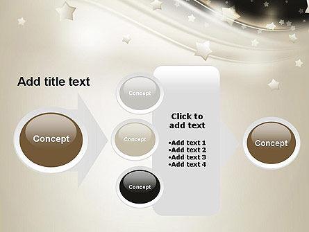 Stars on Gray Theme PowerPoint Template Slide 17