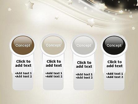 Stars on Gray Theme PowerPoint Template Slide 5