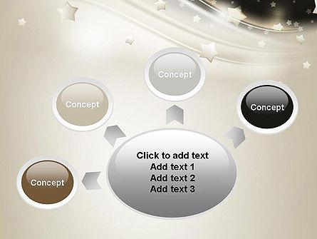 Stars on Gray Theme PowerPoint Template Slide 7