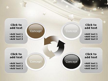 Stars on Gray Theme PowerPoint Template Slide 9