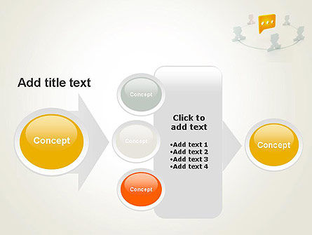 Communication Circle PowerPoint Template Slide 17