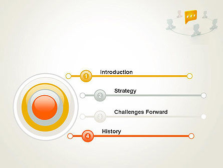 Communication Circle PowerPoint Template, Slide 3, 12084, Business Concepts — PoweredTemplate.com