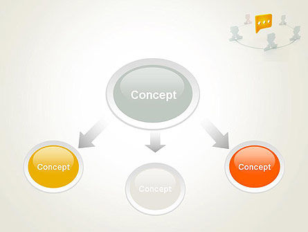 Communication Circle PowerPoint Template, Slide 4, 12084, Business Concepts — PoweredTemplate.com