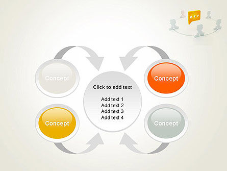 Communication Circle PowerPoint Template Slide 6