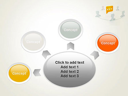 Communication Circle PowerPoint Template Slide 7