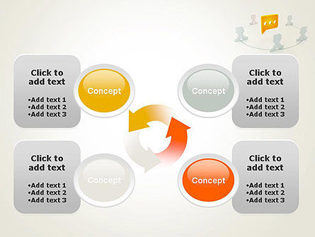Communication Circle PowerPoint Template Slide 9