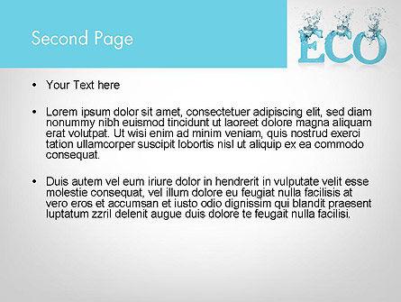 Water Ecology PowerPoint Template, Slide 2, 12086, Nature & Environment — PoweredTemplate.com