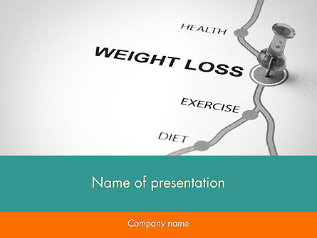 Medical: Weight Loss Basics PowerPoint Template #12087