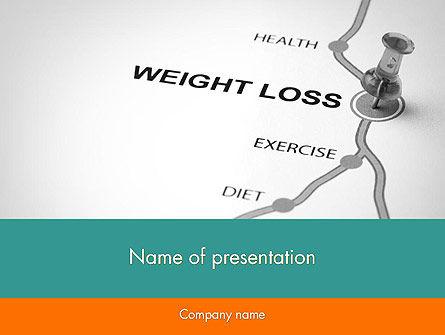 Weight Loss Basics PowerPoint Template, 12087, Health and Recreation — PoweredTemplate.com