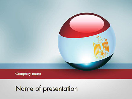 Flags/International: Ball With Flag Of Egypt PowerPoint Template #12088