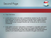 Ball With Flag Of Egypt PowerPoint Template#2