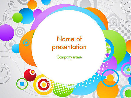 Abstract Colored Circles PowerPoint Template, 12089, Abstract/Textures — PoweredTemplate.com